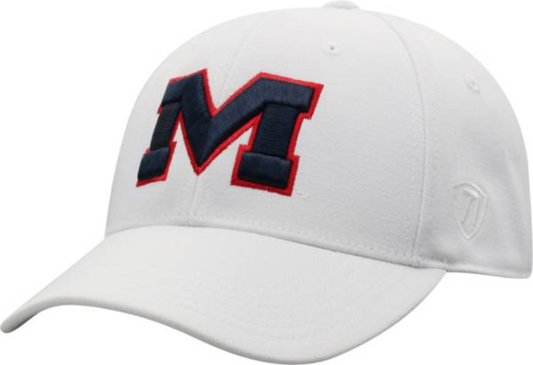 Top of the World Men's Ole Miss Rebels Premium 1Fit Flex White Hat product image