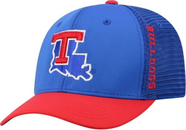 Top of the World Men's Louisiana Tech Bulldogs Blue Chatter 1Fit Fitted Hat product image