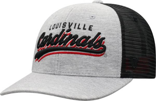 Top of the World Men's Louisville Cardinals Grey/Black Cutter Adjustable Hat product image