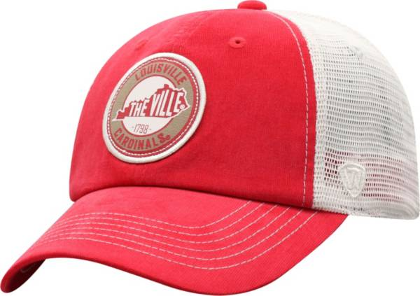 Top of the World Men's Louisville Cardinals Cardinal Red Control Two-Tone Adjustable Hat product image