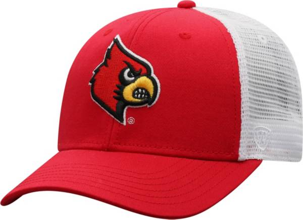 Top of the World Men's Louisville Cardinals Cardinal/White BB Two-Tone Adjustable Hat product image