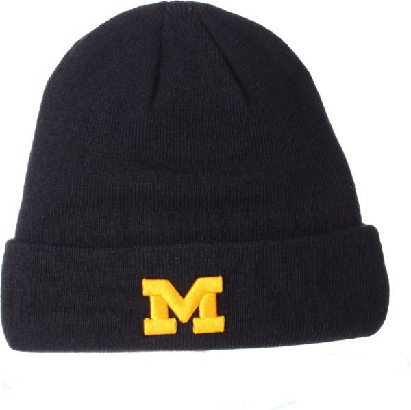 Zephyr Men's Michigan Wolverines Blue Cuffed Knit Beanie product image