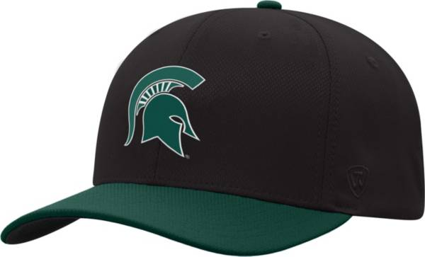 Top of the World Men's Michigan State Spartans Green Reflex Two-Tone Fitted Hat product image