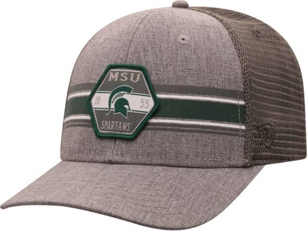 Top of the World Men's Michigan State Spartans Grey Willow Adjustable Hat product image