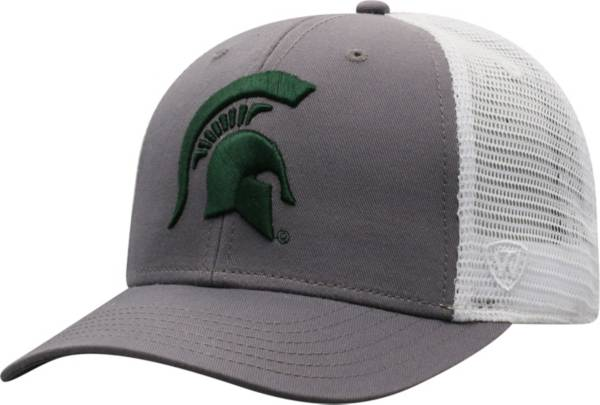 Top of the World Men's Michigan State Spartans Grey/White BB Two-Tone Adjustable Hat product image