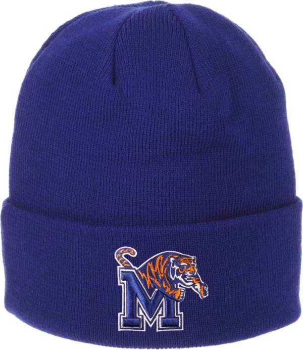 Zephyr Men's Memphis Tigers Blue Cuffed Knit Beanie product image