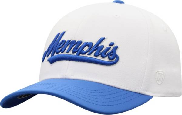 Top of the World Men's Memphis Tigers Infield 1Fit Flex White Hat product image