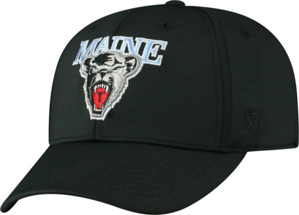 Top of the World Men's Maine Black Bears Tension 1Fit Flex Black Hat product image