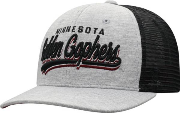 Top of the World Men's Minnesota Golden Gophers Grey/Black Cutter Adjustable Hat product image