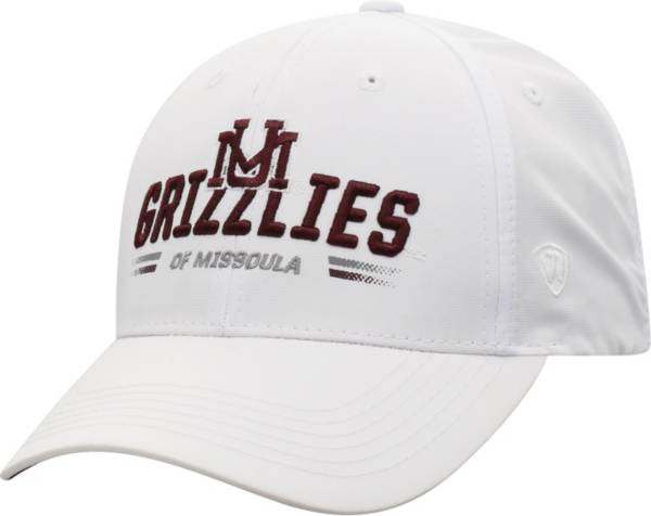 Top of the World Men's Montana Grizzlies Centralize Aura Adjustable White Hat product image