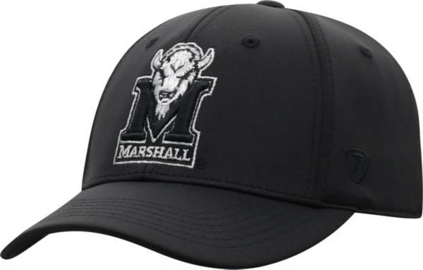 Top of the World Men's Marshall Thundering Herd Phenom 10 1Fit Flex Black Hat product image