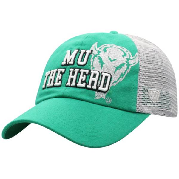 Top of the World Women's Marshall Thundering Herd Green Glitter Cheer Adjustable Hat product image
