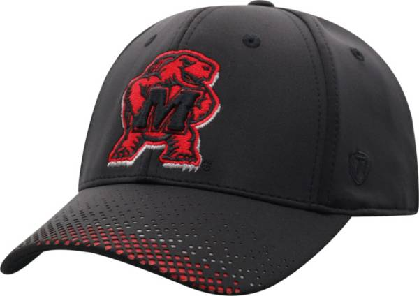 Top of the World Men's Maryland Terrapins Lumens 1Fit Flex Black Hat product image