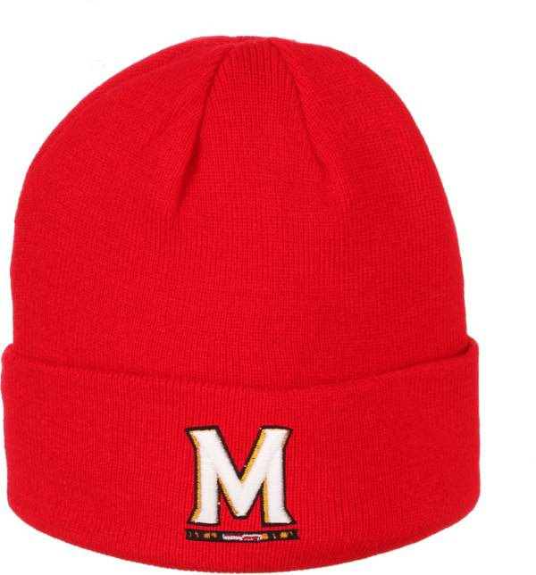 Zephyr Men's Maryland Terrapins Red Cuffed Knit Beanie product image