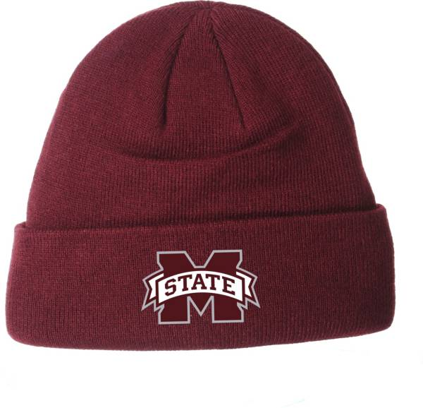 Zephyr Men's Mississippi State Bulldogs Maroon Cuffed Knit Beanie product image