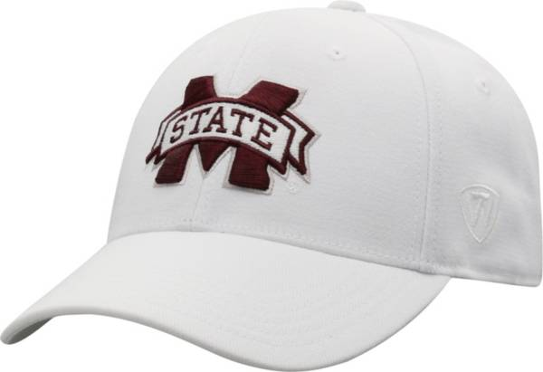Top of the World Men's Mississippi State Bulldogs Premium 1Fit Flex White Hat product image