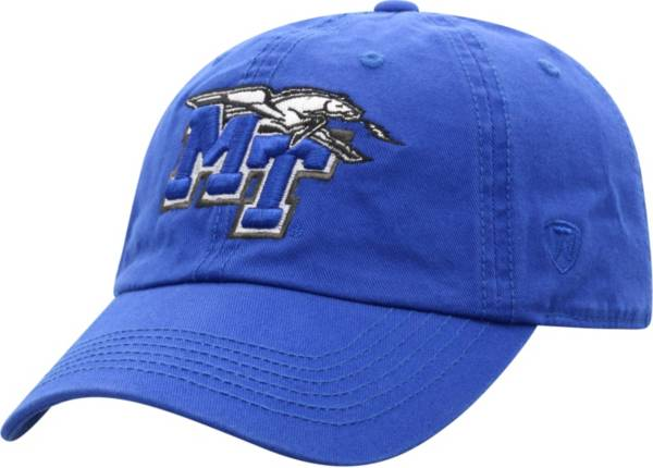 Top of the World Men's Middle Tennessee State Blue Raiders Crew Washed Cotton Adjustable White Hat product image