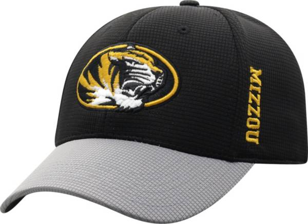 Top of the World Men's Missouri Tigers Booster Plus 1Fit Flex Black Hat product image