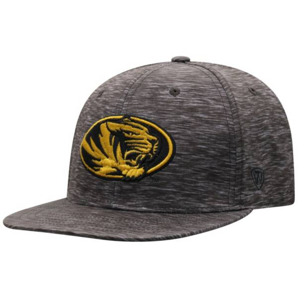 Top of the World Men's Missouri Tigers Gritty 1Fit Flex Black Hat product image