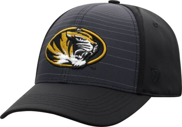 Top of the World Men's Missouri Tigers McGavin 1Fit Flex Black Hat product image