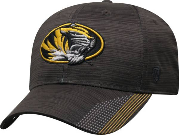 Top of the World Men's Missouri Tigers Trace 1Fit Flex Black Hat product image