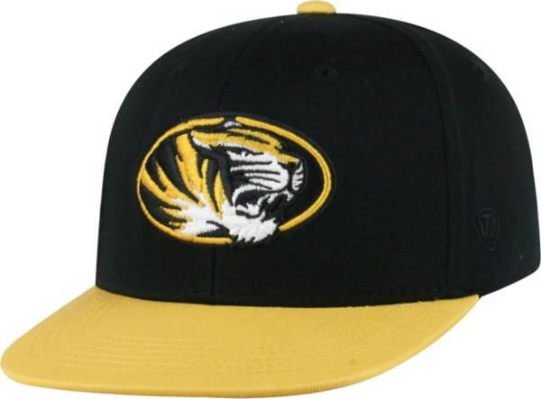 Top of the World Youth Missouri Tigers Maverick Adjustable Black Hat product image