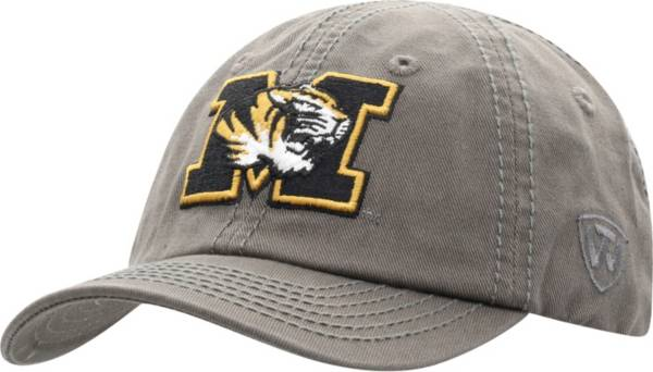 Top of the World Men's Missouri Tigers Grey Crew Washed Cotton Adjustable Hat product image