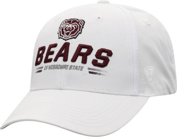 Top of the World Men's Missouri State Bears Centralize Aura Adjustable White Hat product image
