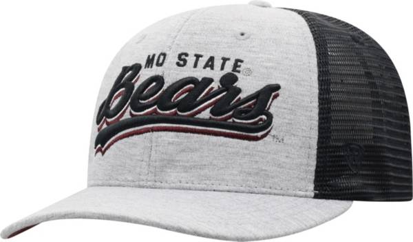 Top of the World Men's Missouri State Bears Grey/Black Cutter Adjustable Hat product image