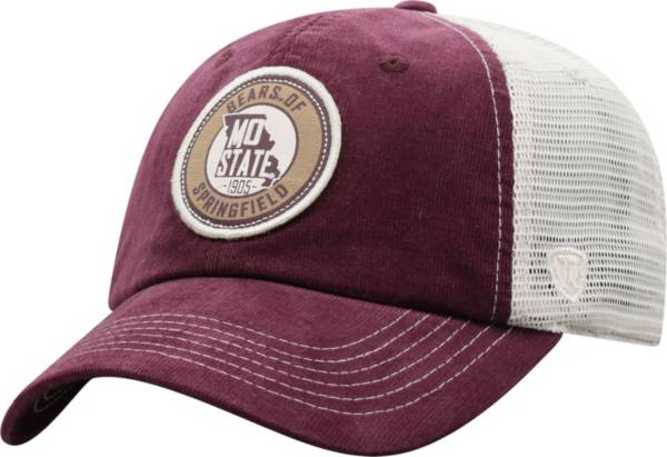 Top of the World Men's Missouri State Bears Maroon Control Two-Tone Adjustable Hat product image