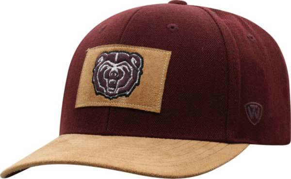 Top of the World Men's Missouri State Bears Maroon Hide Adjustable Hat product image