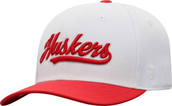 Top of the World Men's Nebraska Cornhuskers Infield 1Fit Flex White Hat product image