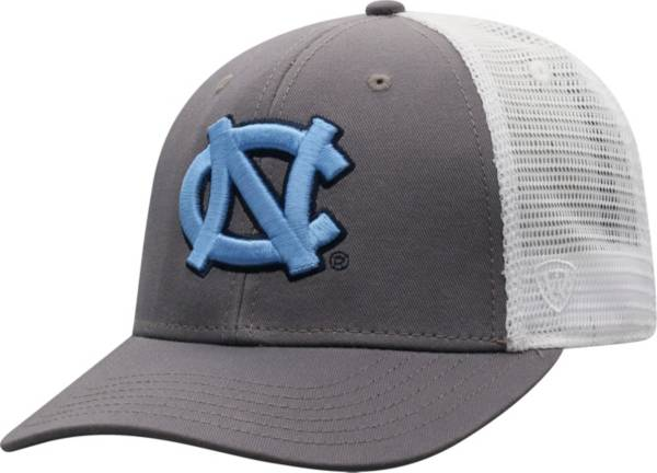 Top of the World Men's North Carolina Tar Heels Grey/White BB Two-Tone Adjustable Hat product image