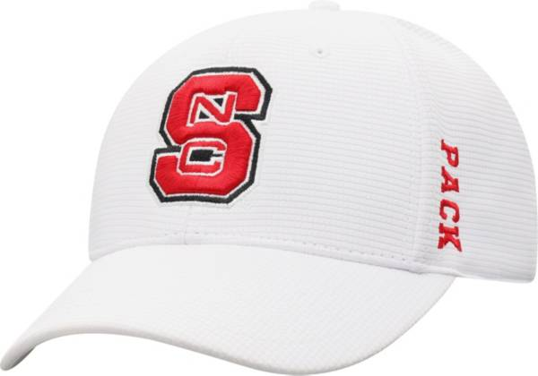 Top of the World Men's NC State Wolfpack Booster Plus 1Fit Flex White Hat product image