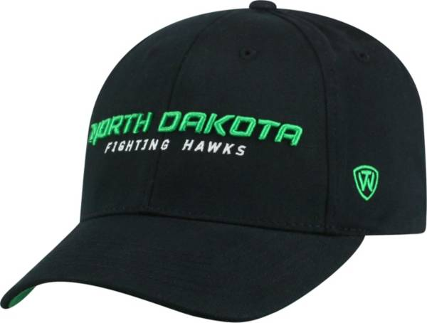 Top of the World Men's North Dakota Fighting Hawks Black Whiz Adjustable Hat product image