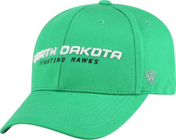 Top of the World Men's North Dakota Fighting Hawks Green Whiz Adjustable Hat product image