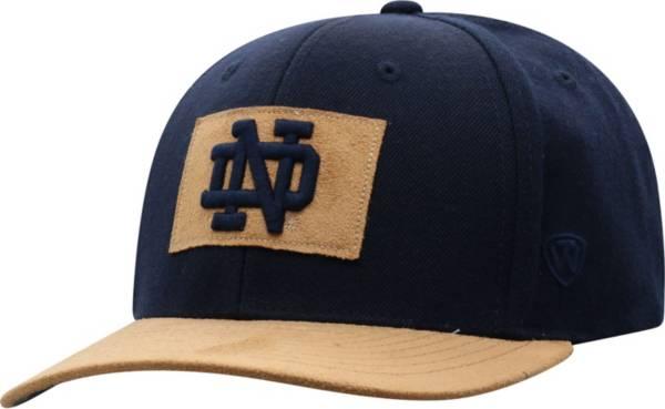 Top of the World Men's Notre Dame Fighting Irish Navy Hide Adjustable Hat product image