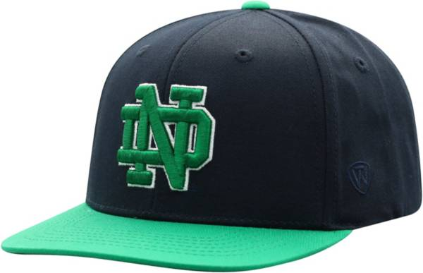 Top of the World Youth Notre Dame Fighting Irish Navy Maverick Adjustable Hat product image