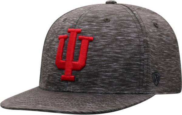 Top of the World Men's Indiana Hoosiers Gritty 1Fit Flex Black Hat product image