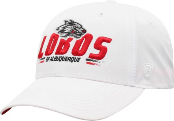 Top of the World Men's New Mexico Lobos Centralize Aura Adjustable White Hat product image
