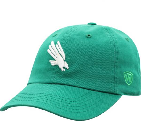 Top of the World Men's North Texas Mean Green Crew Washed Cotton Adjustable White Hat product image