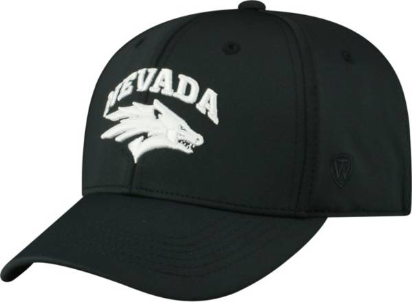 Top of the World Men's Nevada Wolf Pack Tension 1Fit Flex Black Hat product image