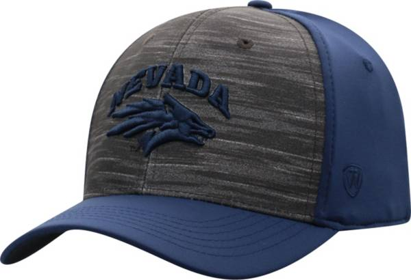 Top of the World Men's Nevada Wolf Pack Grey/Blue Pepper 1Fit Flex Hat product image