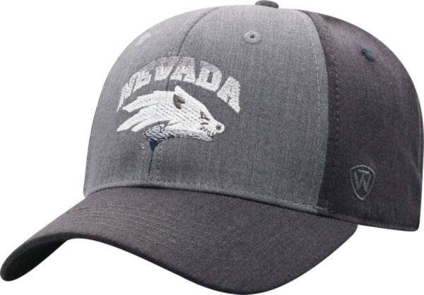 Top of the World Men's Nevada Wolf Pack Grey Powertrip 1Fit Flex Hat product image