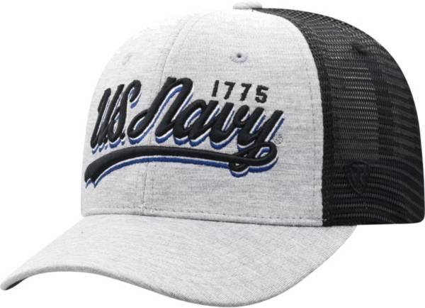 Top of the World Men's Navy Midshipmen Grey/Black Cutter Adjustable Hat product image