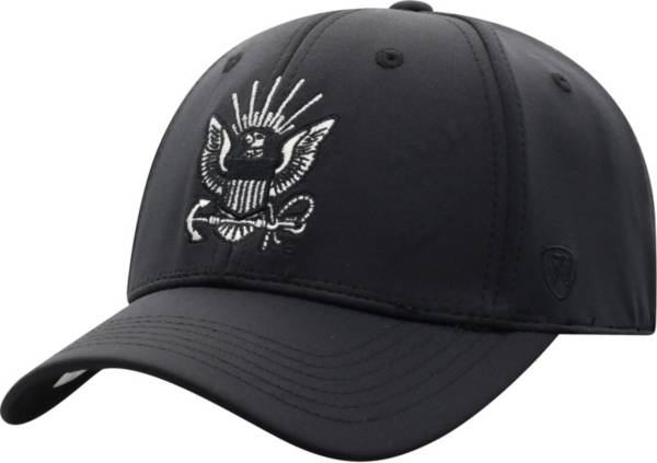 Top of the World Men's Navy Midshipmen Phenom 10 1Fit Flex Black Hat product image