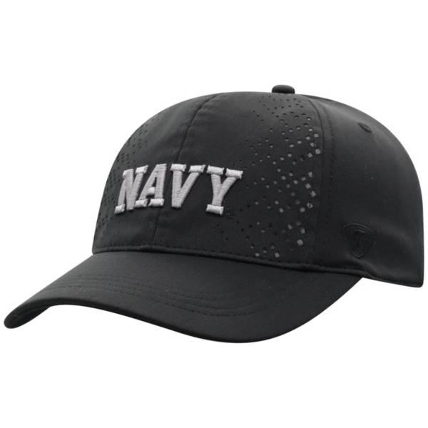 Top of the World Women's Navy Midshipmen Focal 1Fit Flex Black Hat product image