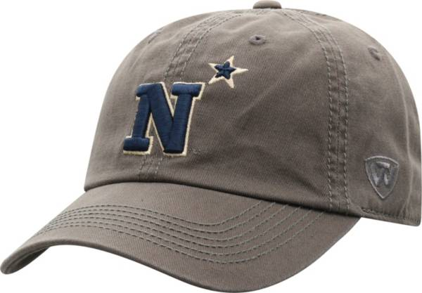 Top of the World Men's Navy Midshipmen Grey Crew Washed Cotton Adjustable Hat product image