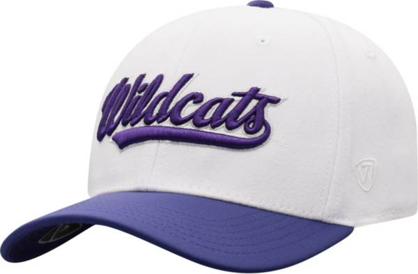 Top of the World Men's Northwestern Wildcats Infield 1Fit Flex White Hat product image