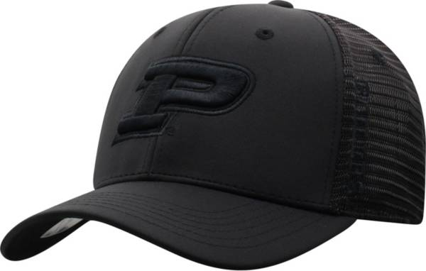 Top of the World Men's Purdue Boilermakers Chatter 1Fit Fitted Black Hat product image
